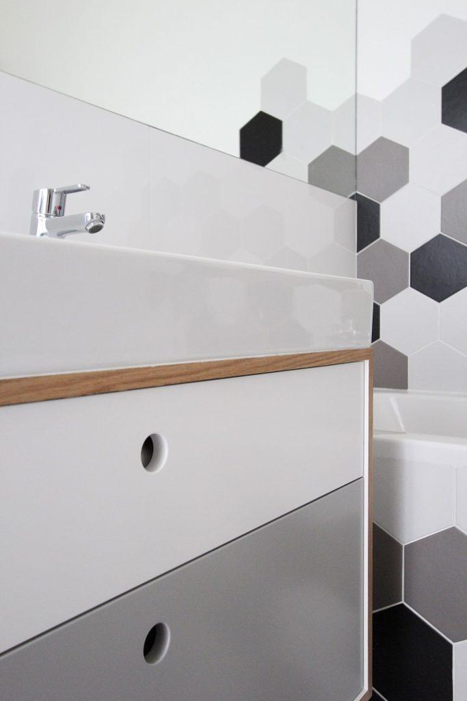 płytki hexagonalne w łazience