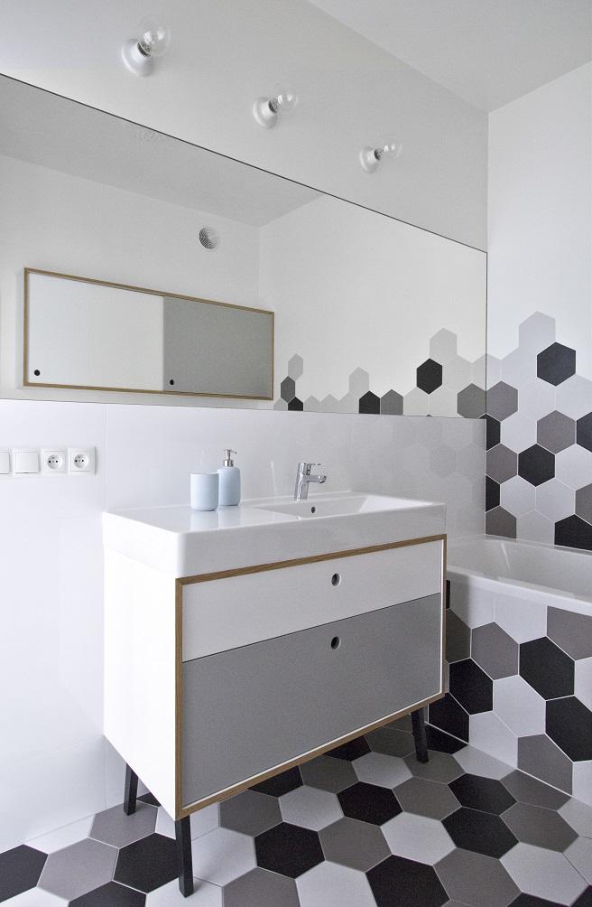 Projekt łazienki lata 60