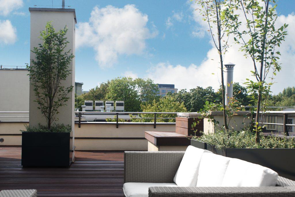 projekt tarasu na dachu