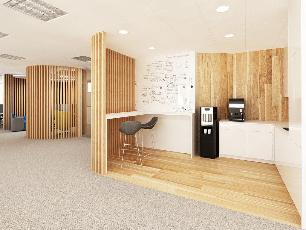 kącik kawowy w biurze bekier studio