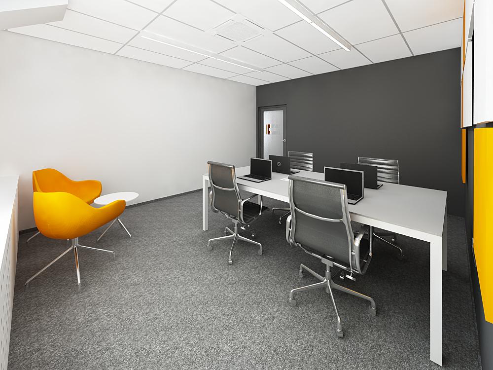 projekt biura sala konferencyjna
