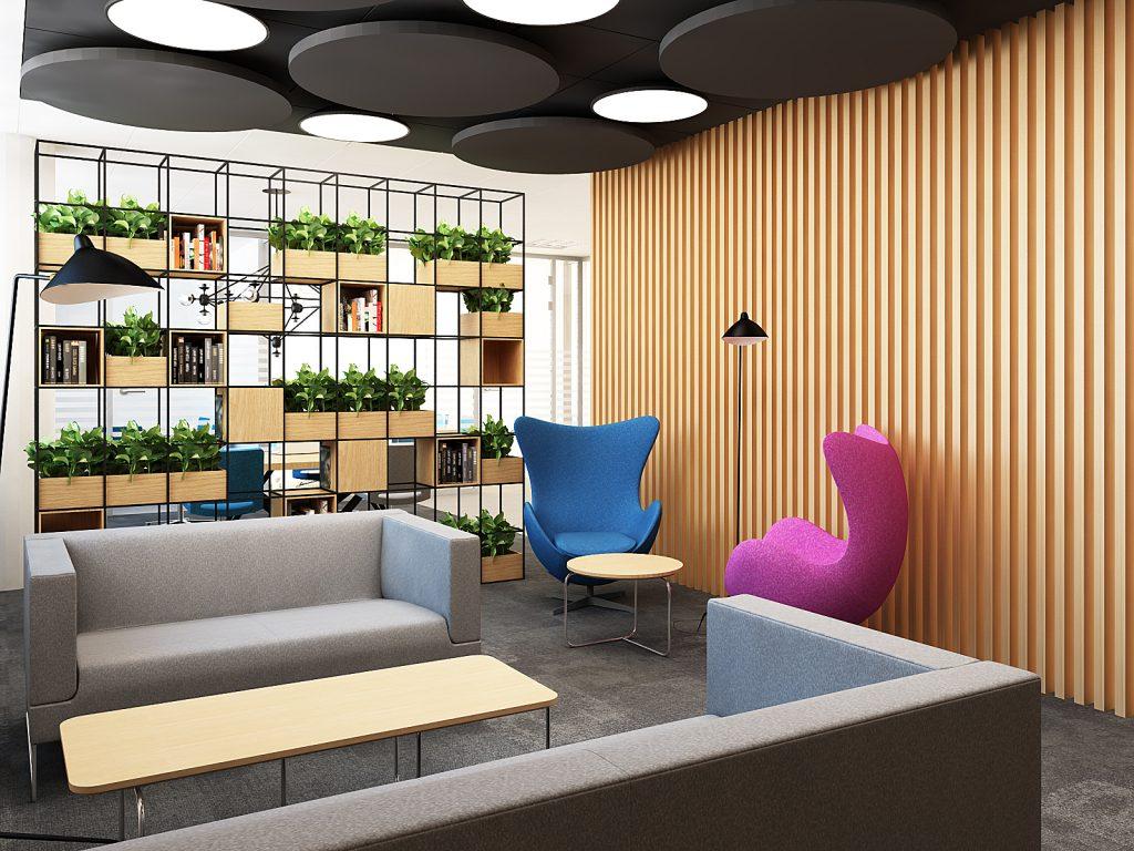 strefa lounge w biurze bekier studio