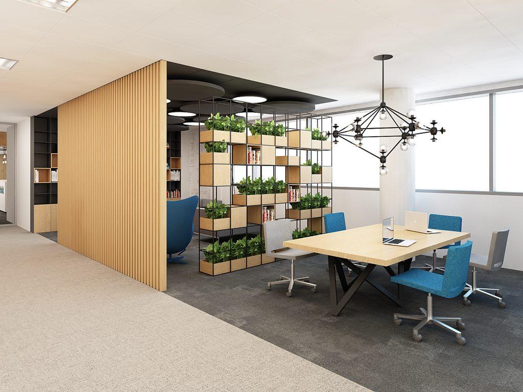 wnętrza biura projekt bekier studio